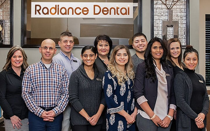 Camas dentist staff at radiance dental